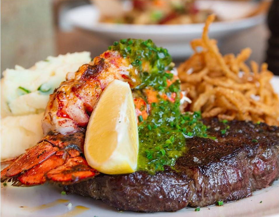 Our Bacon Wrapped Steak Medallions with Lobster Topper is perfect for Dinners