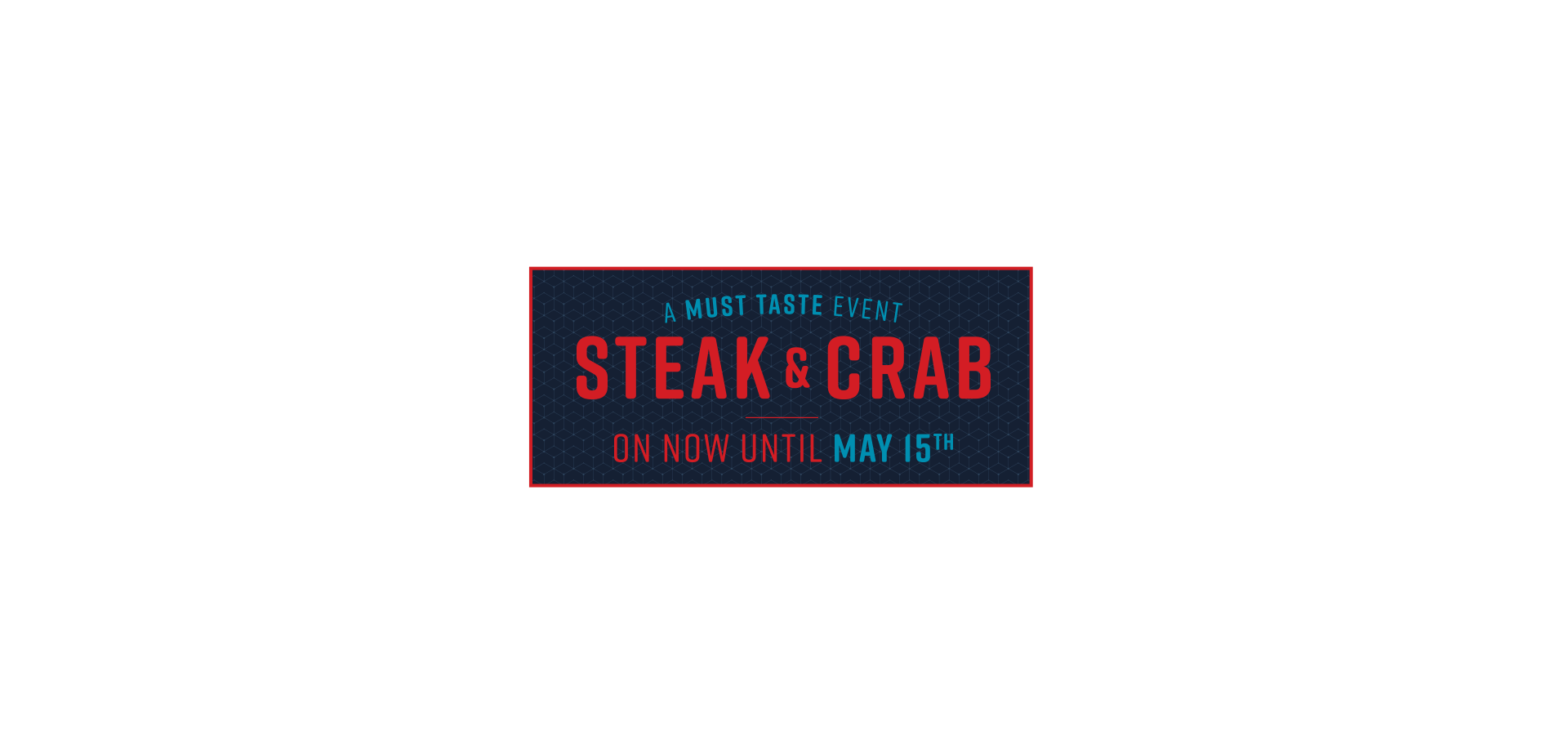 Steak and Crab is Back