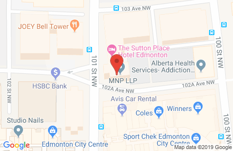 Chop Downtown Edmonton google map image