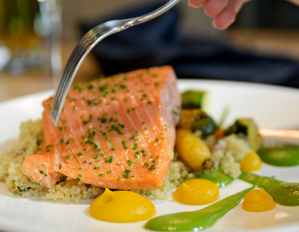 Salmon at Chop Steakhouse